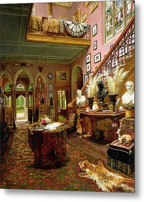The Hall And Staircase Of A Country Metal Print by Jonathan Pratt