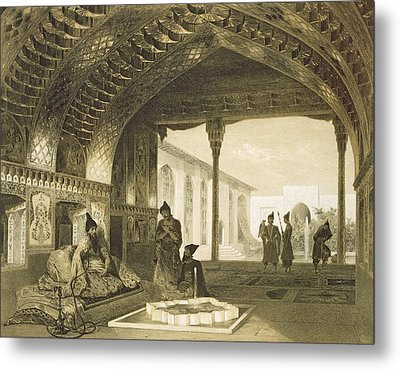 The Hall Of Mirrors In The Palace Metal Print by Grigori Grigorevich Gagarin
