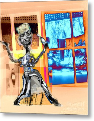 The Happy Drunk Metal Print by Rc Rcd