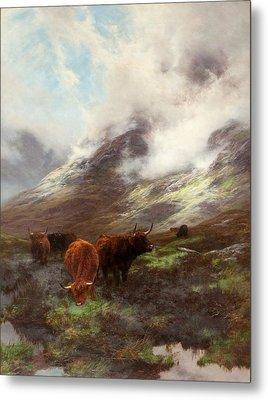 The Head Of The Glen, 1894 Metal Print by Peter Graham