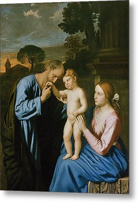 The Holy Family Metal Print by Il Sassoferrato