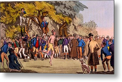 The Hopping Match On Clapham Common Metal Print by English School