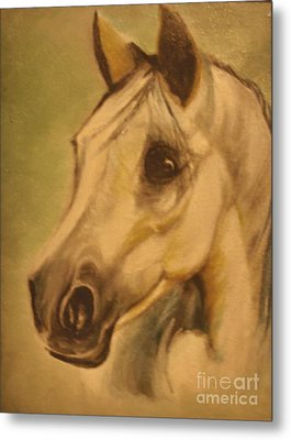 Metal Print featuring the painting The Horse by Sorin Apostolescu