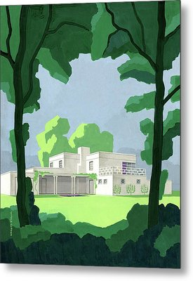 The Ideal House In House And Gardens Metal Print