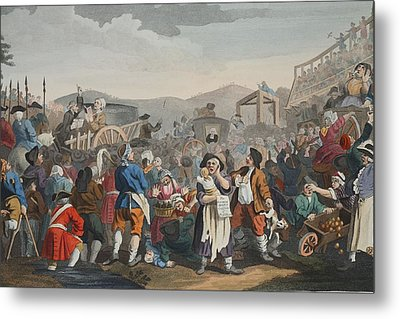 The Idle Prentice Executed At Tyburn Metal Print by William Hogarth