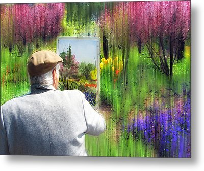 The Impressionist Painter Metal Print by Jessica Jenney