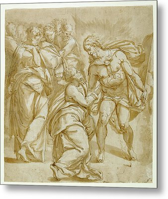 The Incredulity Of Thomas Recto,  Study For The Figure Metal Print