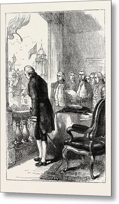 The Installation Of George Washington, United States Metal Print by American School