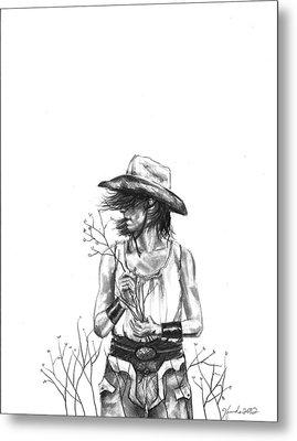 The Iron Cowgirl Metal Print by J Ferwerda