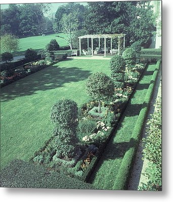 The Jacqueline Kennedy Garden At The White House Metal Print