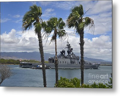 The Japanese Self Defense Force Ship Js Metal Print