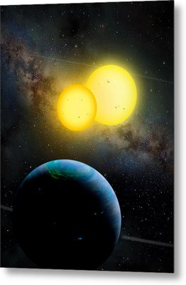 The Kepler 35 System Metal Print by Movie Poster Prints