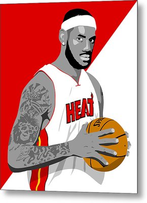 The King Lebron James Metal Print by Paul Dunkel