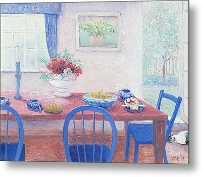 The Kitchen Table Laid For Lunch Metal Print by Jan Matson