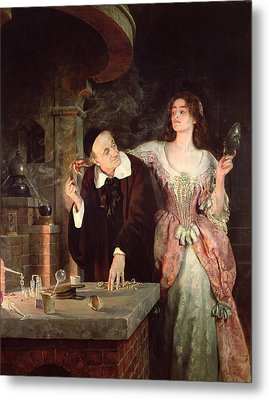 The Laboratory, 1895 Metal Print by John Collier