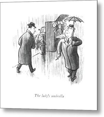 The Lady's Umbrella Metal Print