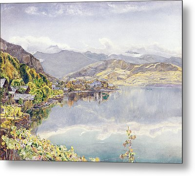 The Lake Of Lucerne, Mount Pilatus Metal Print by John William Inchbold