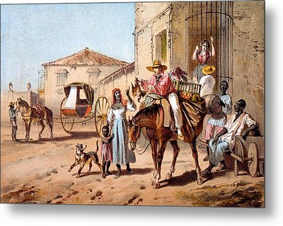 The Landlord, 1840 Metal Print by Federico Mialhe