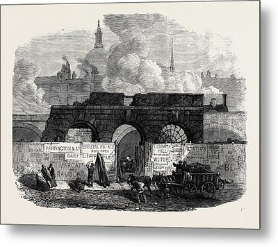 The Last Of The Old Fleet Prison 1868 Metal Print by English School