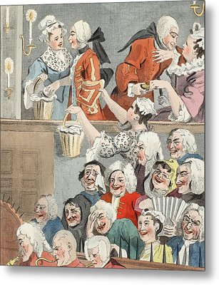 The Laughing Audience, Illustration Metal Print by William Hogarth