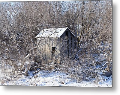 Metal Print featuring the photograph The Little Barn by Kristine Bogdanovich