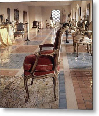 The Living Room Of Baron And Baroness Philippe De Metal Print