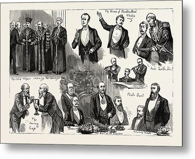 The Lord Mayors Banquet To The Savage Club At The Mansion Metal Print by English School