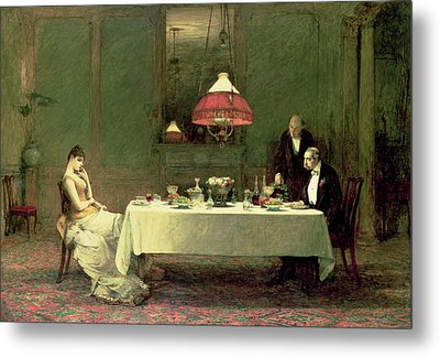 The Marriage Of Convenience, 1883 Metal Print by Sir William Quiller Orchardson