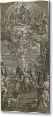 The Martyrdom Of Saint Justina Paolo Veronese Paolo Metal Print