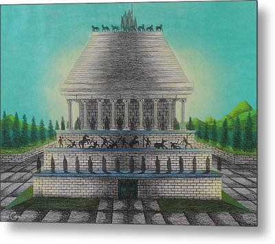 The Mausoleum Of Halicarnassus Metal Print