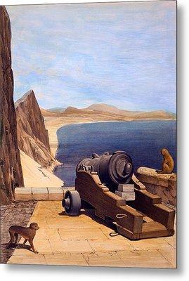 The Mediterranean Battery, Gibraltar Metal Print