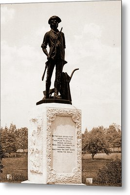 The Minute Man, Concord, Monuments & Memorials, Minutemen Metal Print by Litz Collection