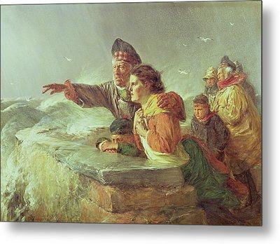The Missing Boat, C.1876 Metal Print by Erskine Nicol
