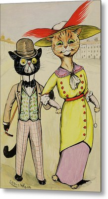 The Modern Arry And Arriet Metal Print by Louis Wain