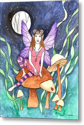 The Moon Fairy Metal Print