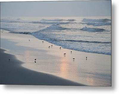 The Morning Surf Metal Print by Bill Cannon