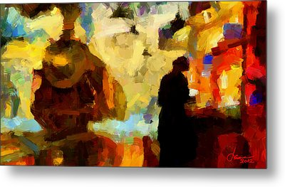 The Morning Train Tnm Metal Print by Vincent DiNovici