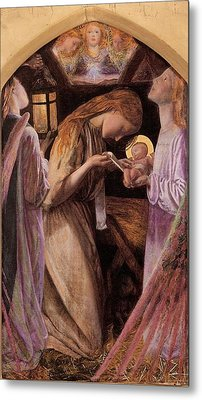 The Nativity With Angel Metal Print by Arthur Hughes