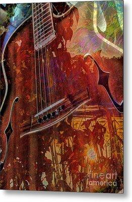 The Nature Of Music Digital Guitar Art By Steven Langston Metal Print