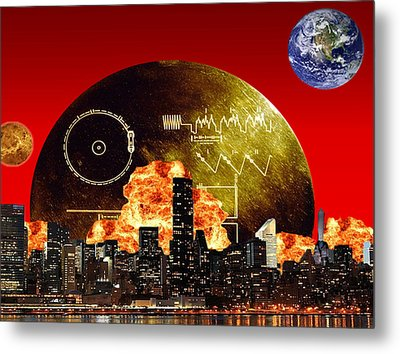 The New Frontier Metal Print by Diskrid Art