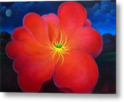 The Night Flower Metal Print