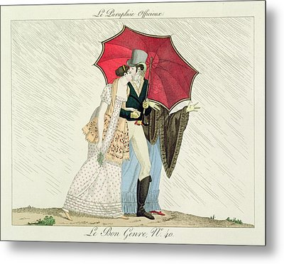 The Obliging Umbrella Metal Print by French School