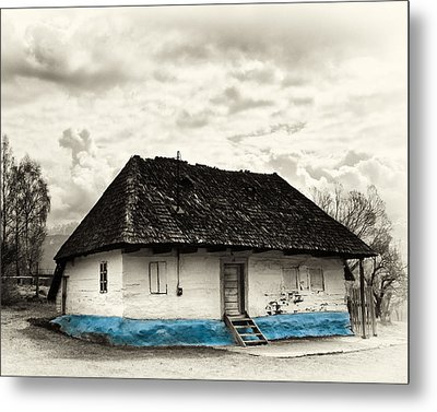 The  Old Blue House -1342  Metal Print by Dorin Stef