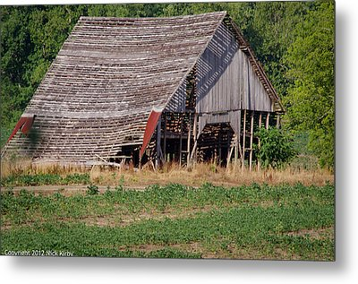 Metal Print featuring the photograph The Old Gray Barn by Nick Kirby