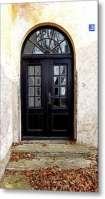 The Old School Entrance Metal Print
