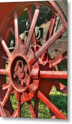 The Old Wheel Metal Print by Michael  Allen