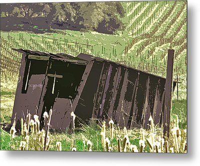 The Old Wine Shed Metal Print by Charlette Miller