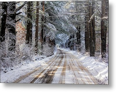 Metal Print featuring the photograph The Oldest Road After The Snow by Constantine Gregory