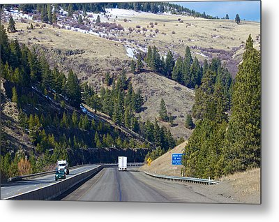 Metal Print featuring the photograph The Oregon Trail At Ladd Canyon Oregon by Michael Rogers