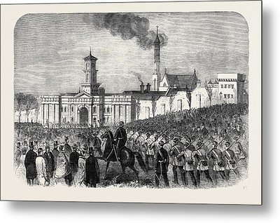 The Outbreak Among The Convicts At Chatham St Metal Print by English School